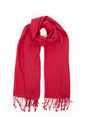 Silk and Cashmere Şal Kırmızı